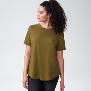 Universal Standard XXS (6-8) Olive Tee Rex Shirt